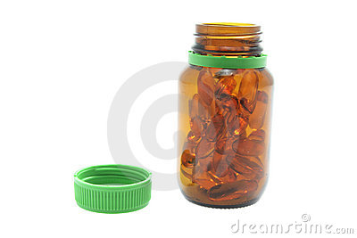 Bottle of Fish Oil Pills
