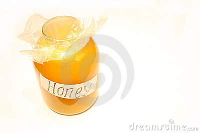 Bottle with honey