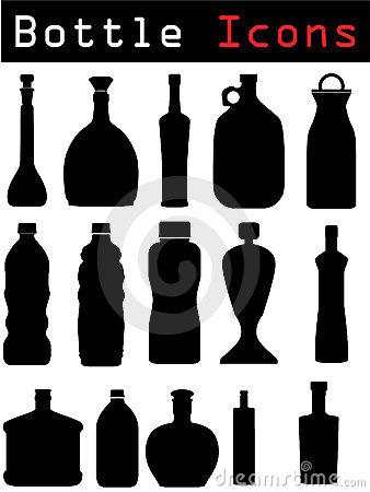 Bottle Icons Stock Image - Image: 12983851