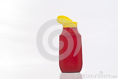 Bottle ketchup. concept of diet