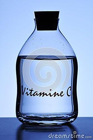 Bottle of liquid vitamin C