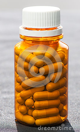 bottle of medicine pills