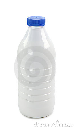 Bottle with milk