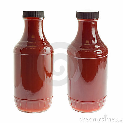 Free Bottle Of Barbecue Sauce On White Royalty Free Stock Photos - 8028648