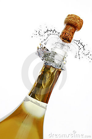 Free Bottle Of Champagne Royalty Free Stock Images - 15463199
