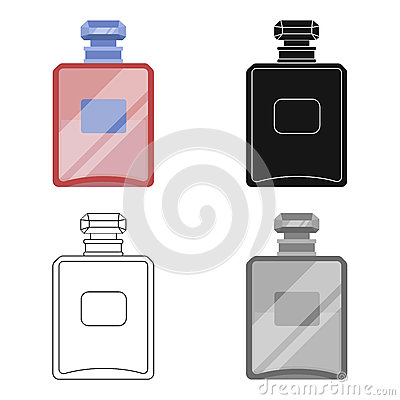 Free Bottle Of French Perfume Icon In Cartoon Style Isolated On White Background. France Country Symbol Stock Vector Stock Images - 91098954