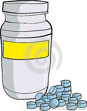 Free Bottle Of Medicinal Pills Stock Image - 31468521
