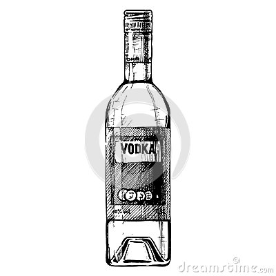 Free Bottle Of Vodka Stock Photos - 100058583