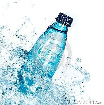 Free Bottle Of Water Splash Royalty Free Stock Images - 42672179