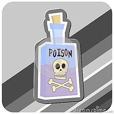 Bottle of Poison Illustration