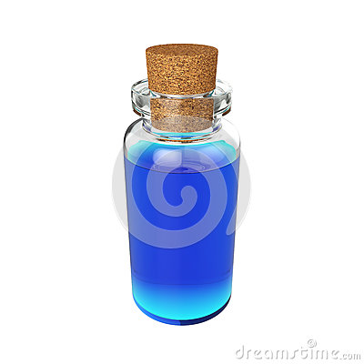 Free Bottle Potion Isolated On White Background, 3D Rendering Stock Photos - 86451423