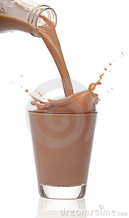 Bottle pouring milk chocolate