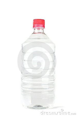 Bottle with pure water