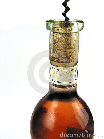 Bottle of rose-wine
