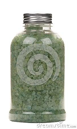 Bottle with salt for bath
