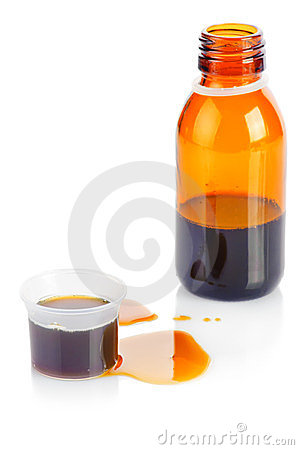 Bottle of syrup medication