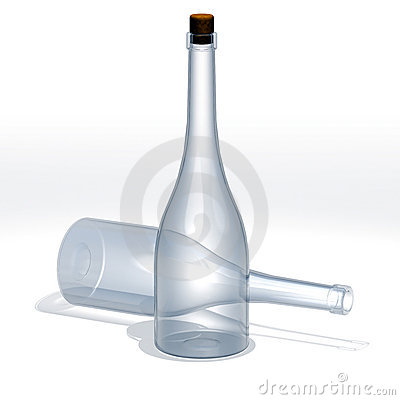 Bottle vodka glass