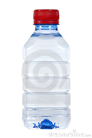Bottle of wate on white background