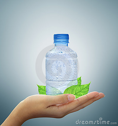Free Bottle Water Mineral In Hand Royalty Free Stock Images - 22634129