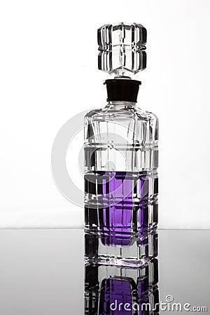 Bottle on white
