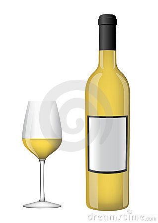 Bottle of wine with a glass