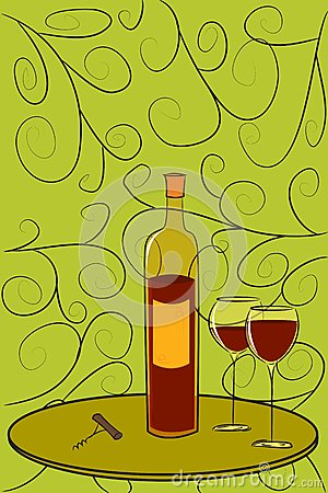 Bottle of Wine Postcard