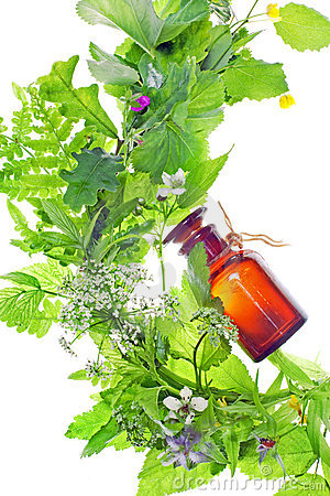 Free Bottle With Homeopathy Balm Stock Photography - 14727482