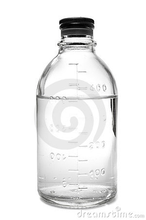 Free Bottle With Saline Royalty Free Stock Image - 5715476