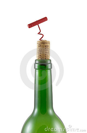 Bottleneck, cork bottle-screw