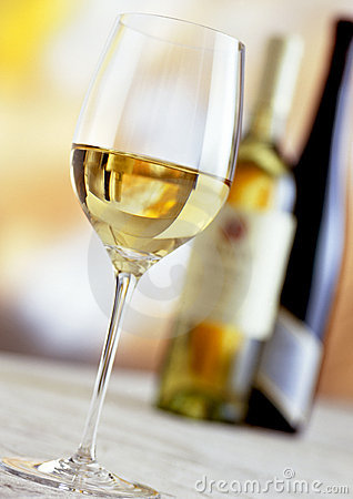 Free Bottles And Glass Of White Wine Stock Image - 16768141