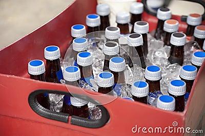 Bottles of beer at the ballpark