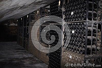 Bottles at the cellar