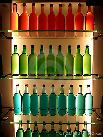 Bottles in color
