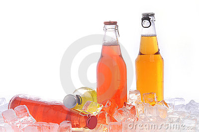 Bottles with drink