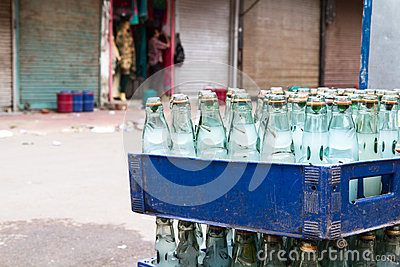 Bottles filled with water