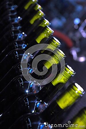 Free Bottles In Line Stock Image - 1532401