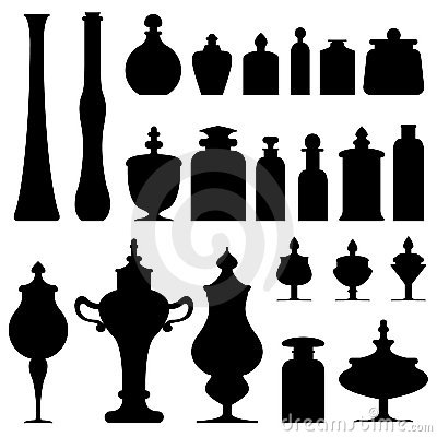 Bottles, jars, and urns from apothecary or herbali
