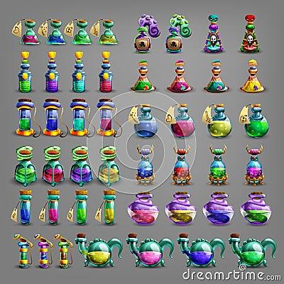 Free Bottles Of Potion. Royalty Free Stock Photos - 72740208