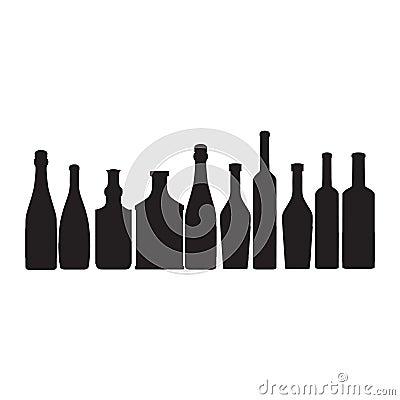 Bottles ouline  silhouette