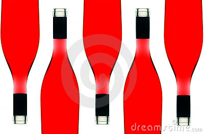 Wine bottles pattern