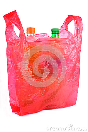 Bottles In Plastic Bag Stock Image - Image: 28817391