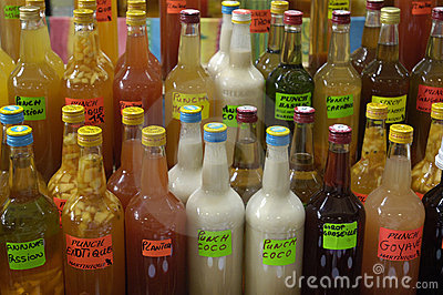 Bottles of punch