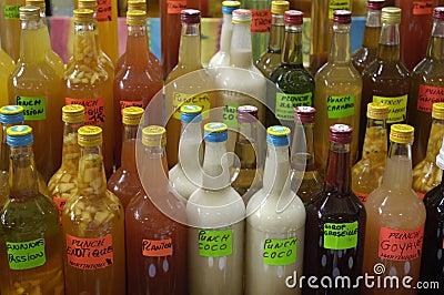 Bottles of punch