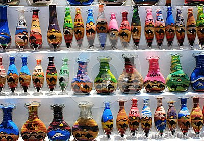 Bottles with sand picture