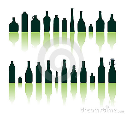 Free Bottles Silhouettes Stock Photography - 1746272