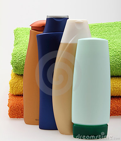 Bottles with towels