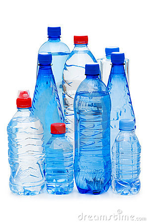 Bottles of water isolated