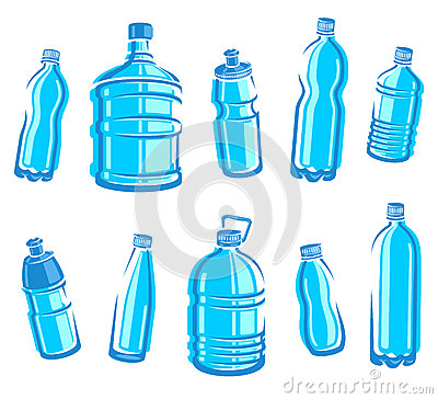Free Bottles Water Set. Vector Stock Photography - 36468582