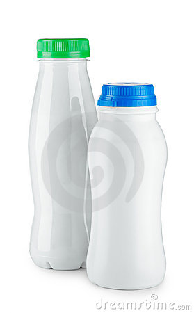 Bottles of yogurt