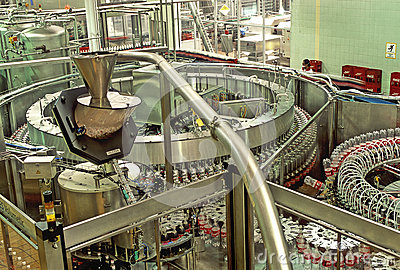 Bottling plant Editorial Stock Image